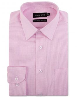 Pink Dobby Weave Formal Shirt