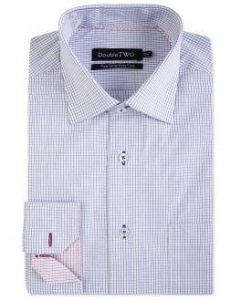 Blue Linear Check Formal Shirt