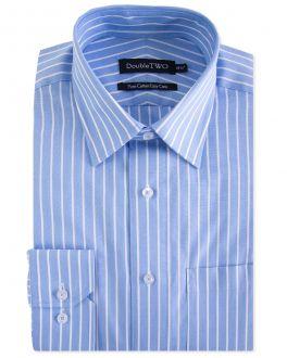 Blue Wide Stripe Formal Shirt
