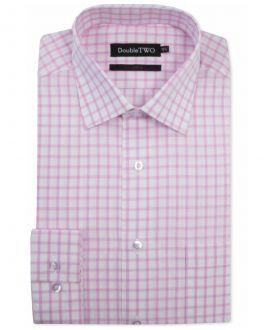 Pink Check Formal Shirt