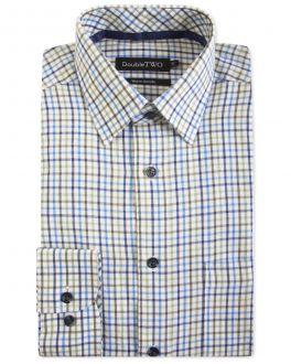 Moss Check Warm Handle Formal Shirt