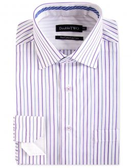 Berry Mini Grid Stripe Formal Shirt