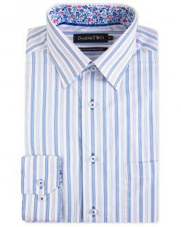 Blue Banded Stripe Formal Shirt