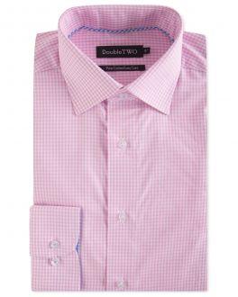 Pink Gingham Formal Shirt