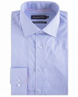 Blue Gingham Formal Shirt