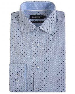 Navy Spotted Formal Shirt