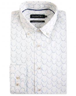 Grey Antler Print Formal Shirt