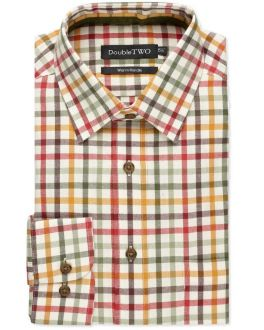 Gold Tattersall Check Warm Handle Shirt