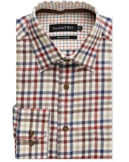 Brown Bold Tattersall Check Warm Handle Shirt