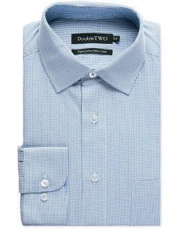 Blue Dobby Weave Formal Shirt