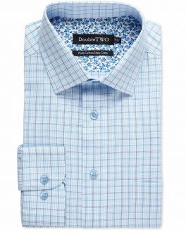Pale Blue Multi Check Formal Shirt
