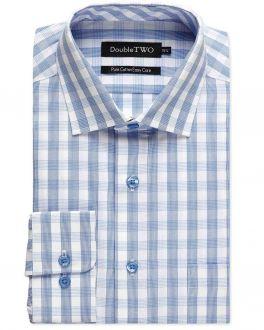 Blue Striped Check Formal Shirt