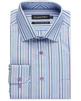 Blue and Purple Stripe Formal Shirt