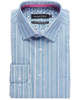 Blue Shaded Stripe Formal Shirt