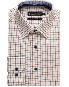 Rust Tattersall Check Warm Handle Shirt