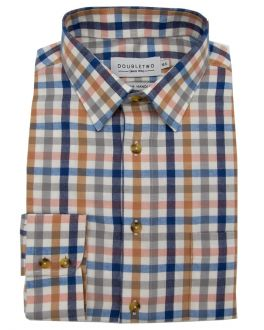 Tan Tattersall Large Check Long Sleeve Shirt
