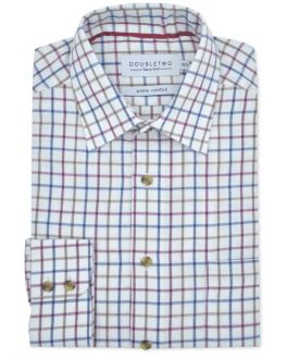 Plum Tattersall Check Long Sleeve Shirt