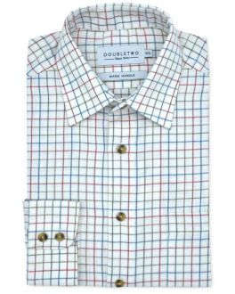 Red Tattersall Check Long Sleeve Shirt