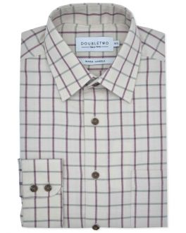 Brown Tattersall Large Check Long Sleeve Shirt