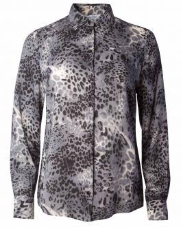 Grey Animal Print Women's Shirt