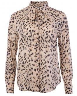 Natural Animal Print Women's Shirt
