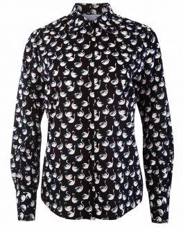 Black Swan Print Women's Shirt