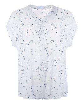 Dove Grey Constellation Print Women's Blouse