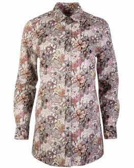 Cream Liberty Floral Print Women's Shirt