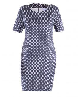 Charcoal Dot Ladies Dress