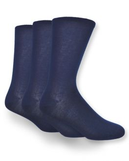 Navy Natural Bamboo Socks (pack of 3)