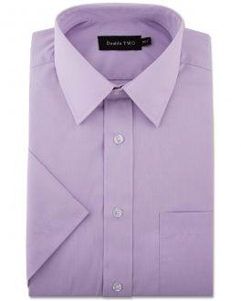 Lilac Classic Easy Care Short Sleeve Shirt