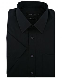 Black Classic Easy Care Short Sleeve Shirt
