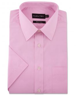 Pink Classic Easy Care Short Sleeve Shirt