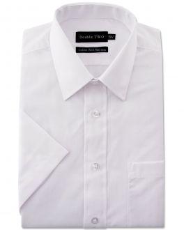 White Short Sleeve Non-Iron Shirt