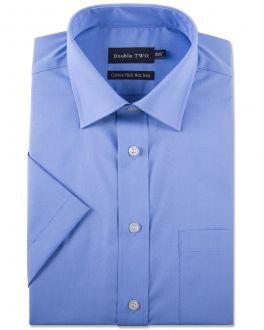 Cornflower Blue Short Sleeved Non-Iron Shirt