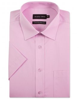 New Pink Short Sleeve Non-Iron Shirt