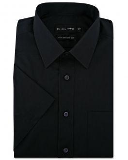 Black Short Sleeve Non-Iron Shirt