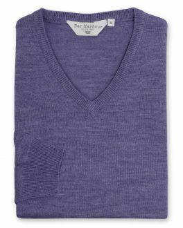 Marl Heather Long Sleeve V Neck Sweater