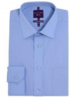 Slim Fit Fresh Blue Long Sleeve Non-Iron Shirt