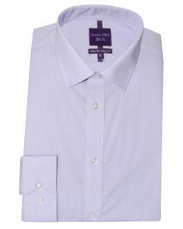 Slim Fit Lilac Long Sleeve Non-Iron Shirt