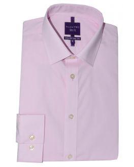 Slim Fit Pink Long Sleeve Non-Iron Shirt