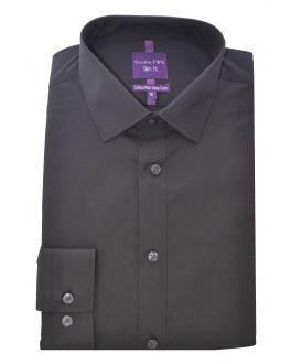Slim Fit Black Long Sleeve Non-Iron Shirt