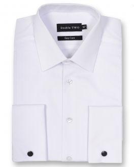White Marcella Bib Front Dress Shirt