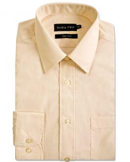 Cream Classic Easy Care Long Sleeve Shirt