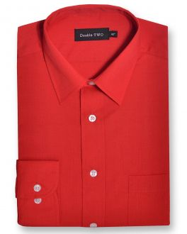Red Classic Easy Care Long Sleeve Shirt