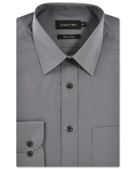 Silver Grey Classic Easy Care Long Sleeve Shirt