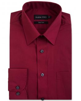 Burgundy Classic Easy Care Long Sleeve Shirt