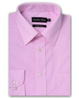Pink Classic Easy Care Long Sleeve Shirt