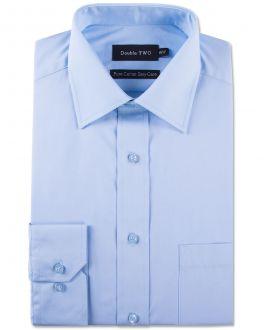 Glacier Blue 100% Cotton Poplin Shirt