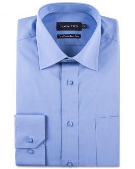 Blue 100% Cotton Poplin Shirt